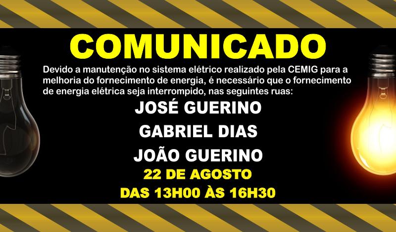 Imagem destaque notícia CEMIG INFORMA INTERRUPÇÃO NO FORNECIMENTO DE ENERGIA