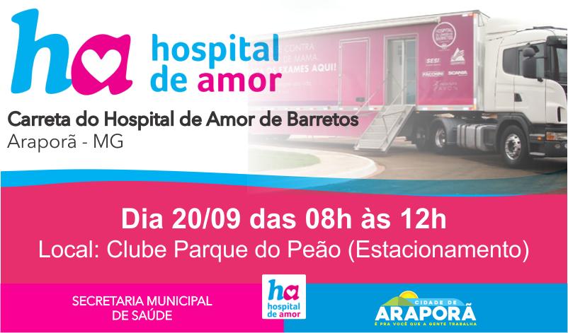 Imagem destaque notícia ARAPORÃ RECEBERÁ CARRETA DO HOSPITAL DE AMOR