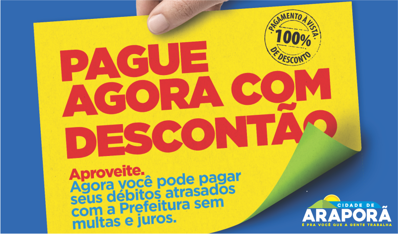 Imagem destaque notícia NEGOCIE SEUS DÉBITOS MUNICIPAIS ATÉ O DIA 30 E GARANTA SEU DESCONTÃO