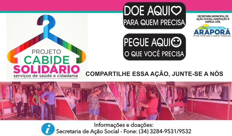 Imagem destaque notícia SECRETARIA DE AÇÃO SOCIAL SEGUE COM CAMPANHA DO CABIDE SOLIDÁRIO