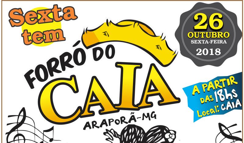Imagem destaque notícia FORRÓ DO CAIA ACONTECE NESTA SEXTA-FEIRA (26)