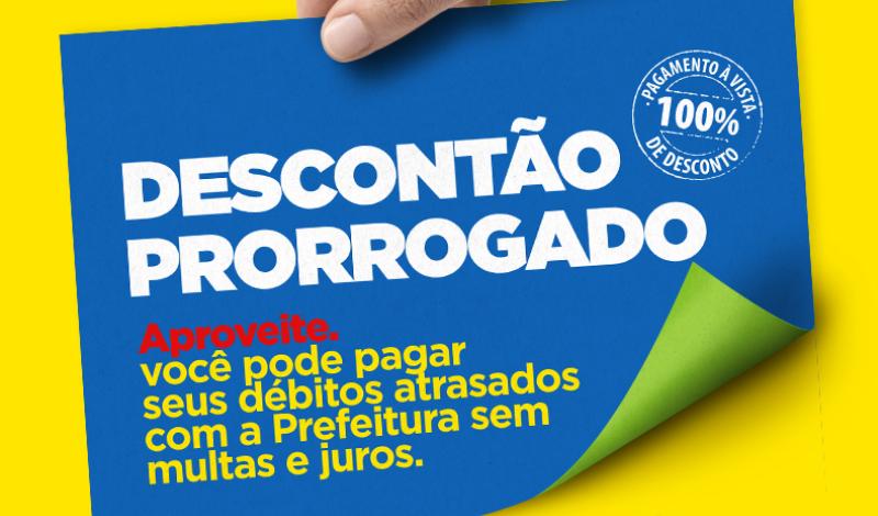 Imagem destaque notícia PREFEITURA PRORROGA PRAZO PARA NEGOCIAÇÃO DE DÉBITOS MUNICIPAIS