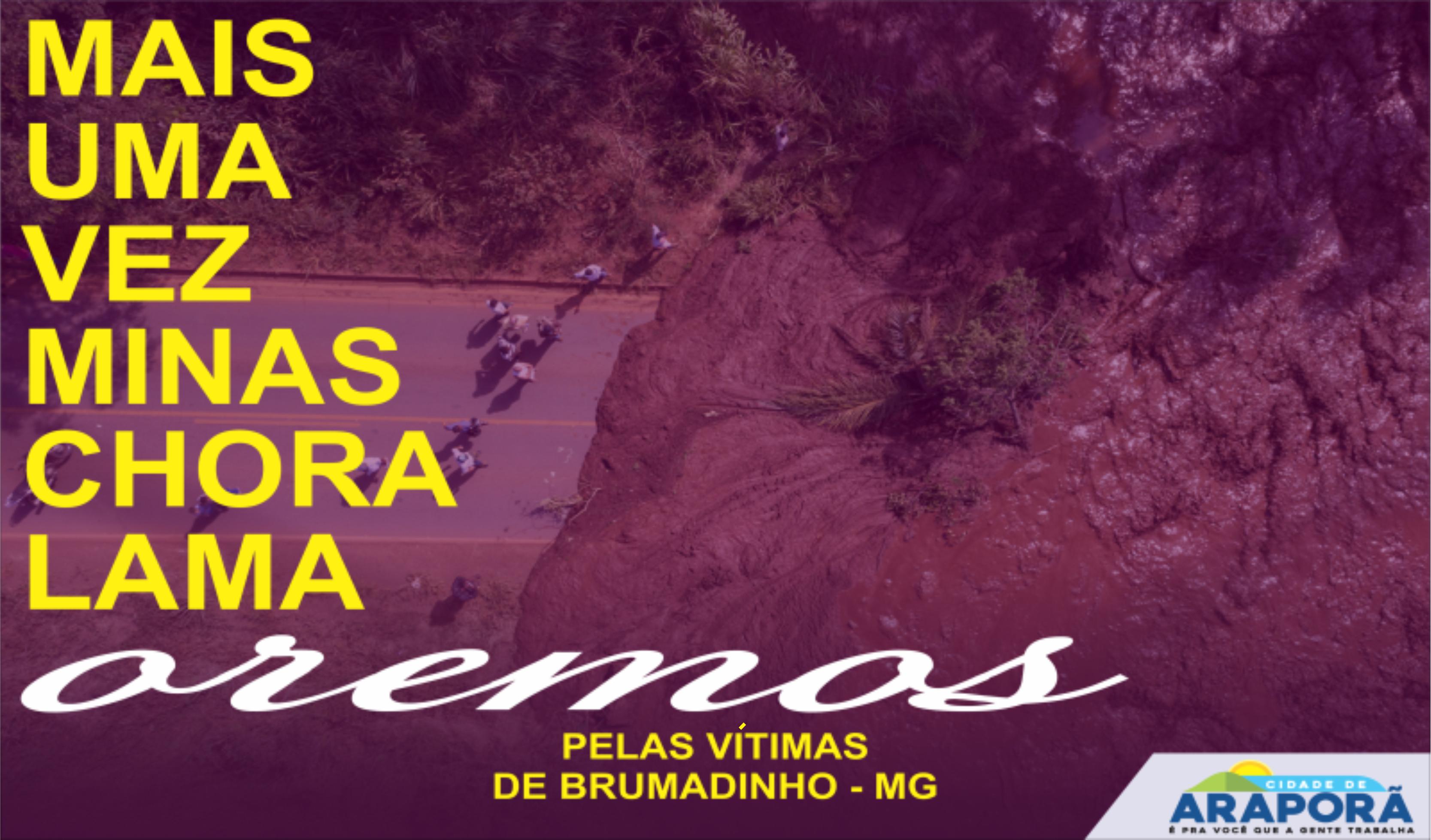 Imagem destaque notícia A Prefeitura e a comunidade araporense se solidarizam com a população de Brumadinho