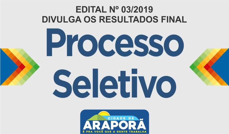 Imagem destaque notícia EDITAL Nº 03/2019 – DIVULGA OS RESULTADOS FINAL