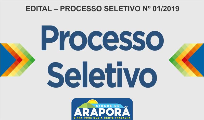 Imagem destaque notícia EDITAL – PROCESSO SELETIVO Nº 01/2019