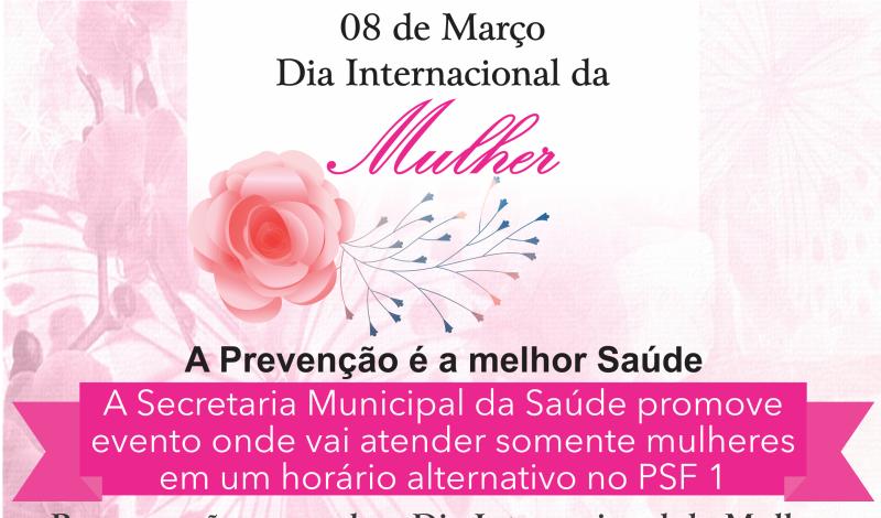 Imagem destaque notícia PREFEITURA E SECRETARIA DE SAÚDE PREPARAM PROGRAMAÇÃO PARA DIA INTERNACIONAL DA MULHER