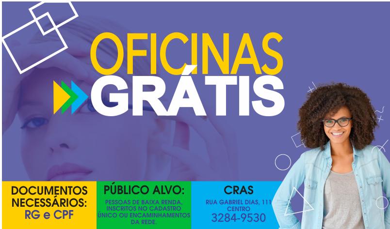 Imagem destaque notícia CRAS CONVOCA ALUNOS INSCRITOS NAS OFICINAS DO PAIF E DO SCFV