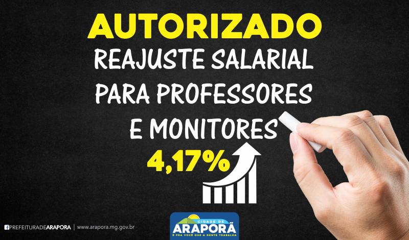 Imagem destaque notícia PREFEITURA DE ARAPORÃ REAJUSTA SALÁRIO DE PROFESSORES E MONITORES