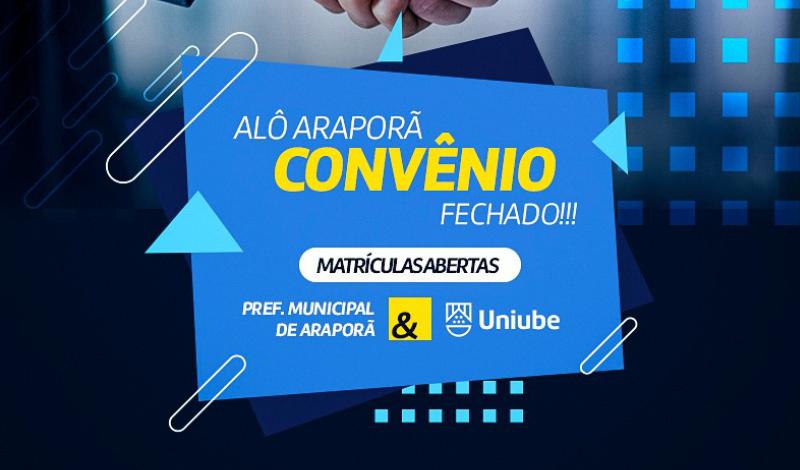 Imagem destaque notícia ARAPORÃ E UNIUB CELEBRAM CONVÊNIO PARA ENSINO SUPERIOR
