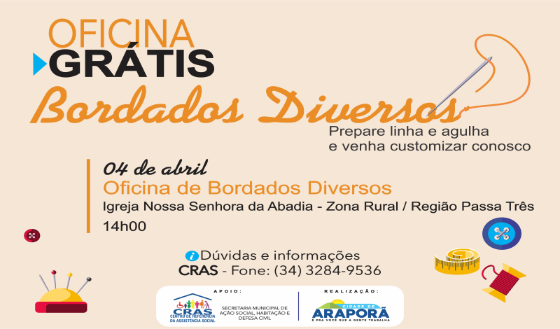 Imagem destaque notícia OFICINA DE BORDADOS NA ZONA RURAL