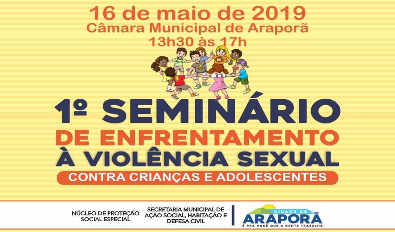 Imagem destaque notícia PREFEITURA PROMOVE SEMINÁRIO SOBRE VIOLÊNCIA SEXUAL CONTRA A CRIANÇA E O ADOLESCENTE