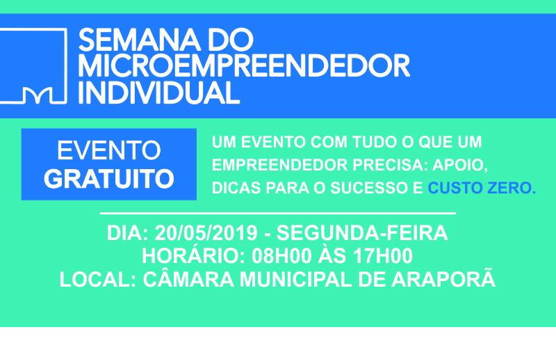 Imagem destaque notícia SEMANA DO MICRO EMPREENDEDOR TEM INÍCIO DIA 20