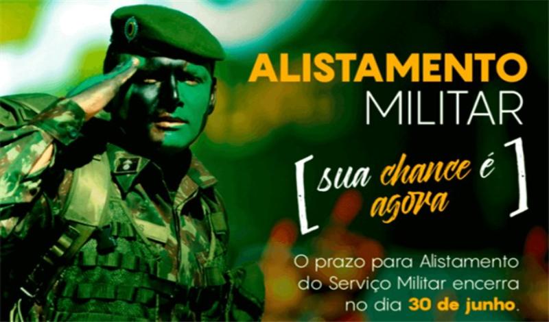 Imagem destaque notícia Prazo para alistamento militar obrigatório termina 30 de junho