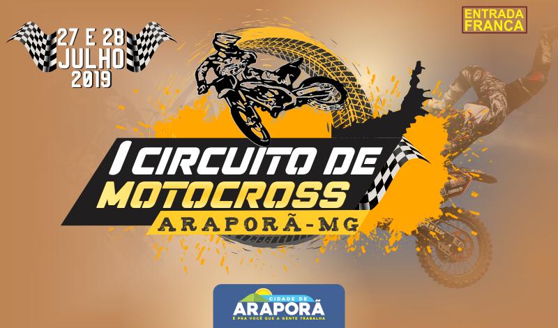 Imagem destaque notícia ARAPORÃ REALIZA 1º CIRCUITO DE MOTOCROS DIAS 27 E 28 DE JULHO