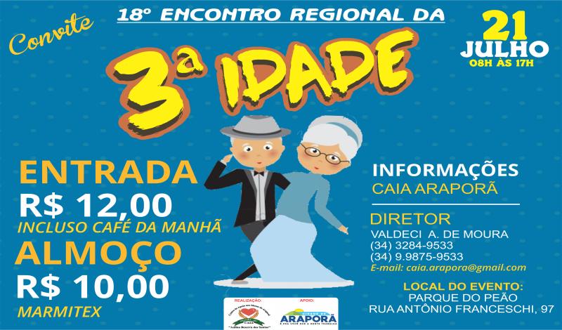 Imagem destaque notícia CAIA REALIZARÁ O 19° ENCONTRO REGIONAL DA TERCEIRA IDADE