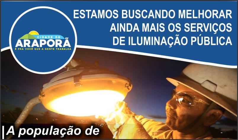 Imagem destaque notícia PREFEITURA INFORMA CONTATO EM CASO DE PROBLEMAS NA ILUMINAÇÃO PÚBLICA