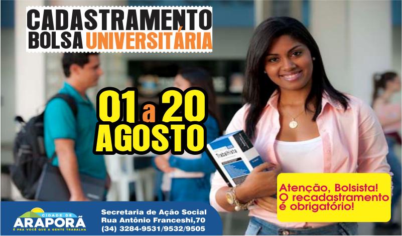 Imagem destaque notícia Prefeitura de Araporã prorroga prazo para cadastro do Bolsa Universitária