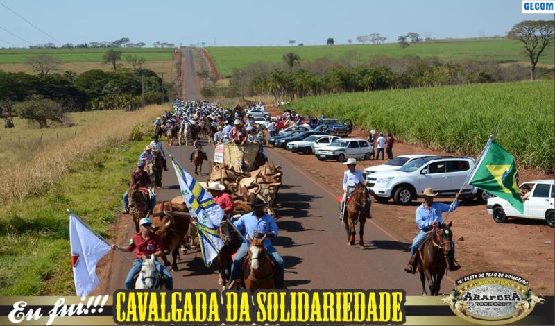 Imagem destaque notícia Cavalgada da Solidariedade abre programação da Festa do Peão de Boiadeiro