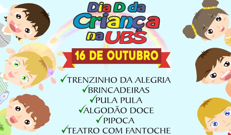 Imagem destaque notícia SAÚDE PROMOVE DIA D DA CRIANÇA NA UBS