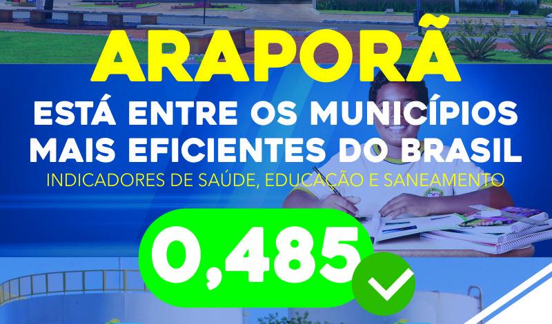 Imagem destaque notícia ARAPORÃ É EXEMPLO DE EFICIÊNCIA NOS SERVIÇOS PÚBLICOS