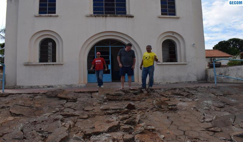Imagem destaque notícia TEM INÍCIO RESTAURAÇÃO DA IGREJA NOSSA SENHORA DA GUIA DE ARAPORÃ