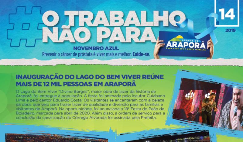 """Imagem destaque notícia O informativo """"O trabalho não para"""""""