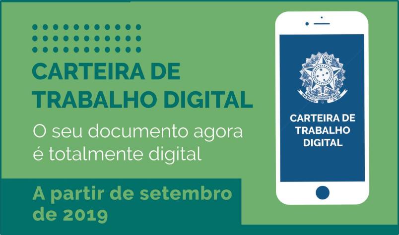 Imagem destaque notícia CARTEIRA DE TRABALHO AGORA É DIGITAL
