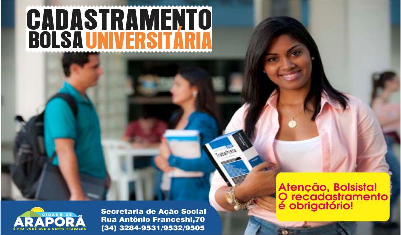 Imagem destaque notícia Bolsa Universitária inscreve alunos até o dia 18