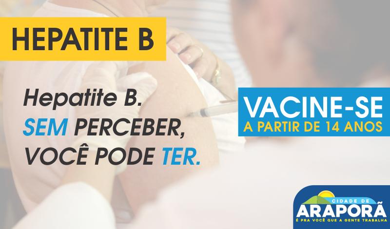 Imagem destaque notícia Vacinação contra a Hepatite B acontecerá no sábado
