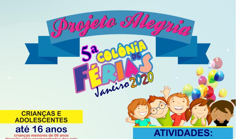 Imagem destaque notícia 5ª COLÔNIA DE FÉRIAS
