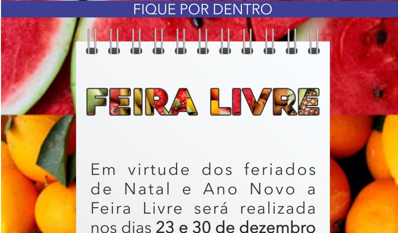 Imagem destaque notícia FEIRA LIVRE PASSA POR MUDANÇA TEMPORÁRIA DE DIAS NESTE FIM DE ANO