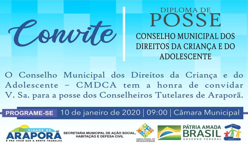 Imagem destaque notícia CERIMÔNIA DE POSSE DOS CONSELHEIROS TUTELARES