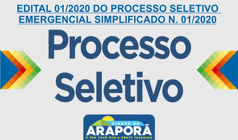 Imagem destaque notícia EDITAL 01/2020 DO PROCESSO SELETIVO EMERGENCIAL  SIMPLIFICADO N. 01/2020