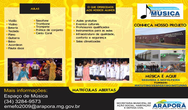 Imagem destaque notícia INSCRIÇÕES ABERTAS PARA AULAS DE INSTRUMENTOS E CORAL NO ESPAÇO DE MÚSICA