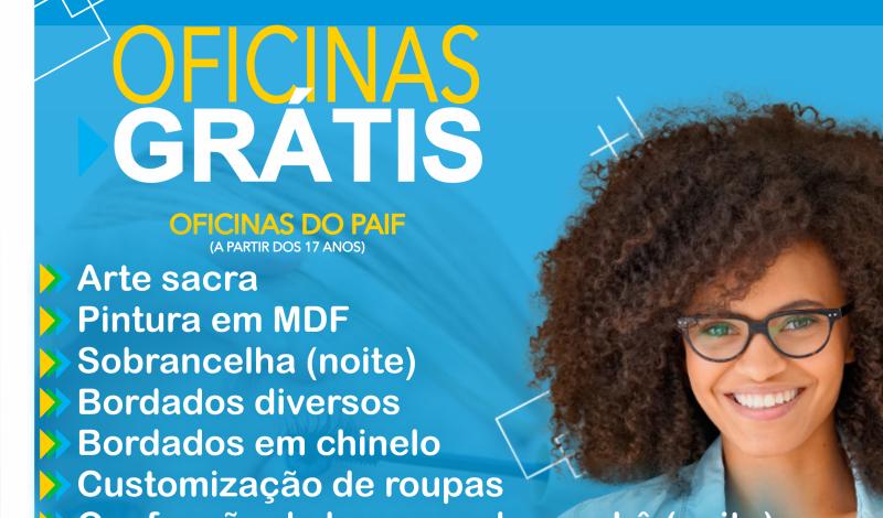 Imagem destaque notícia PREFEITURA OFERECE 14 OFICINAS GRATUITAS PARA A POPULAÇÃO