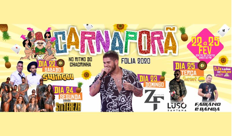 Imagem destaque notícia CARNAPORÃ FOLIA 2020 – NO RITMO DO CHACRINHA