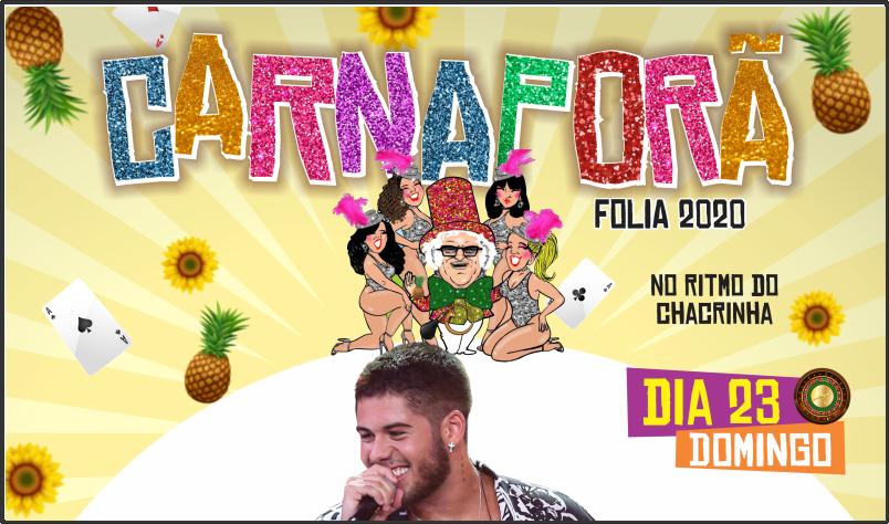 Imagem destaque notícia MATINÊ E SHOW DE ZÉ FELIPE PROMETEM NO SEGUNDO DIA DO CARNAPORÃ