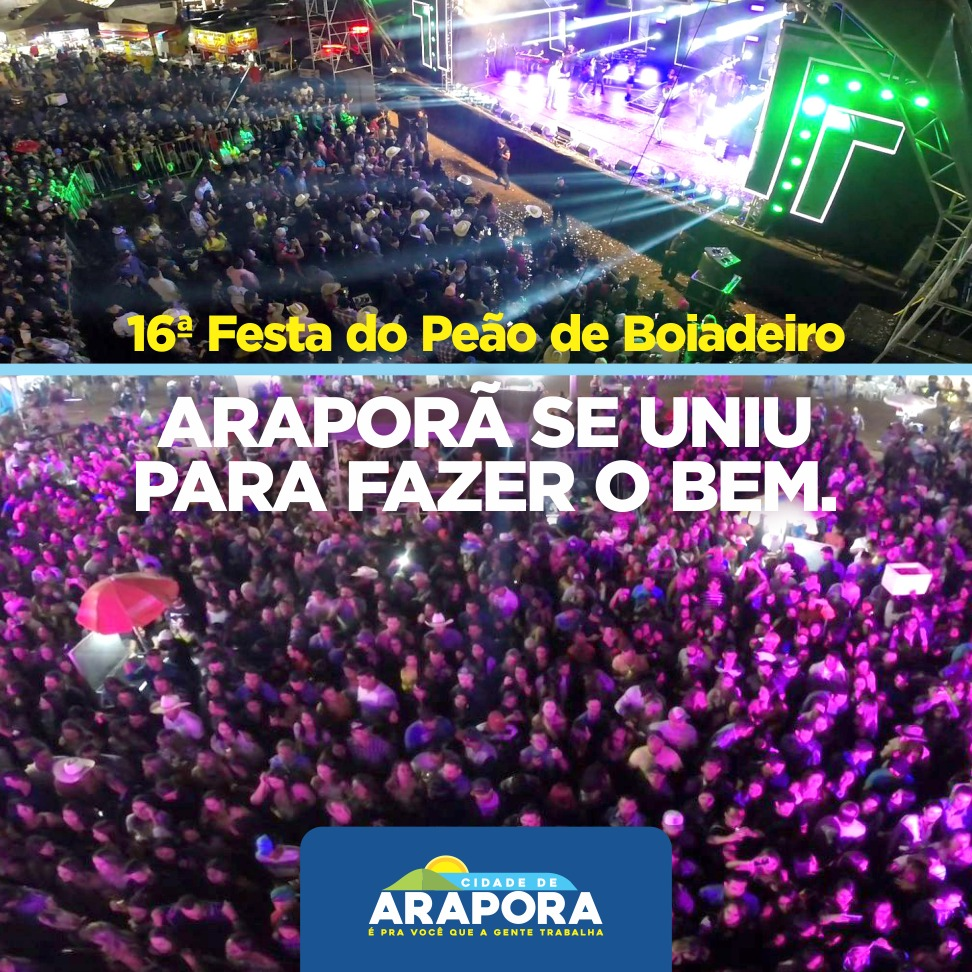 Imagem destaque notícia Arrecadação da Festa do Peão será entregue a entidades e Hospital de Câncer na próxima sexta-feira