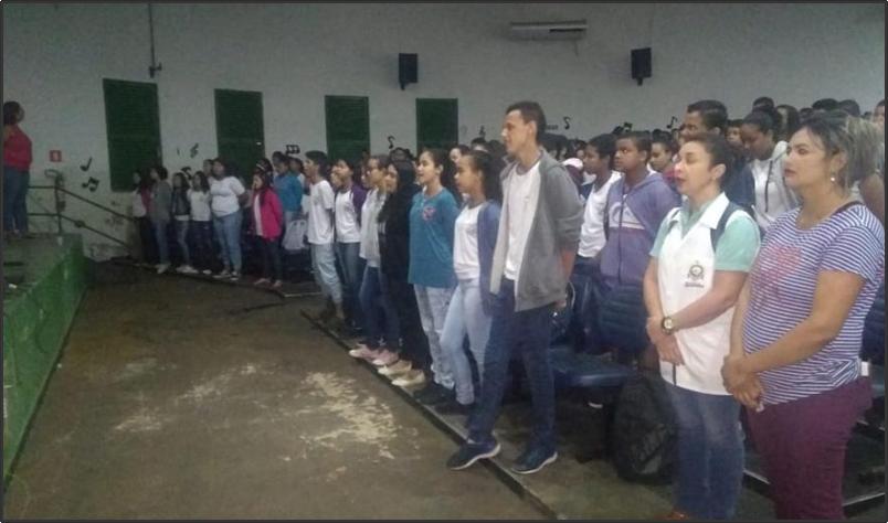 Imagem destaque notícia ESCOLA OLINTHA RESGATA TRADIÇÃO DE CANTAR O HINO NACIONAL