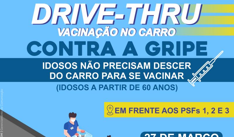 Imagem destaque notícia SAÚDE VAI VACINAR IDOSOS EM SISTEMA DRIVE THRU