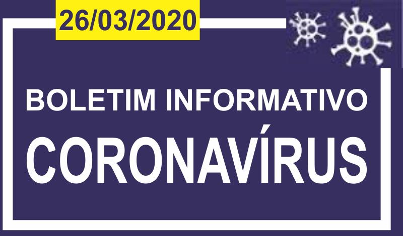 Imagem destaque notícia BOLETIM INFORMATIVO CORONA VÍRUS – 26/03/2020