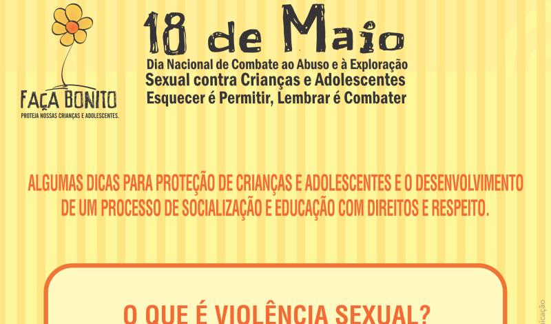 Imagem destaque notícia CAMPANHA FAÇA BONITO - O QUE É VIOLÊNCIA SEXUAL?