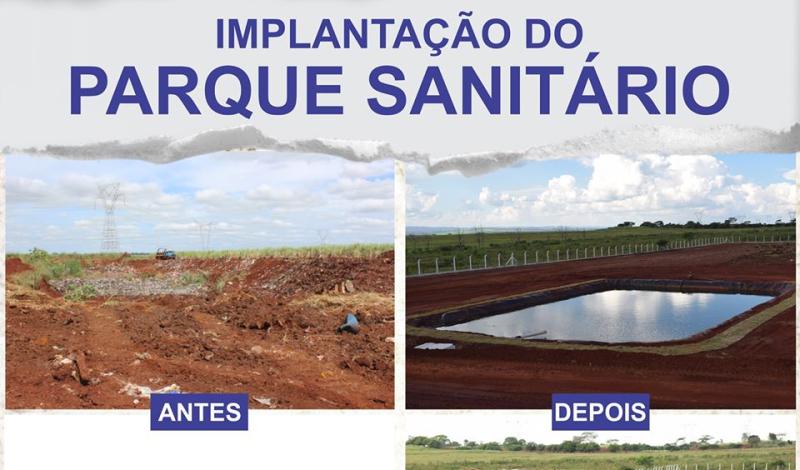 Imagem destaque notícia ANTES E DEPOIS DO PARQUE SANITÁRIO EM ARAPORÃ