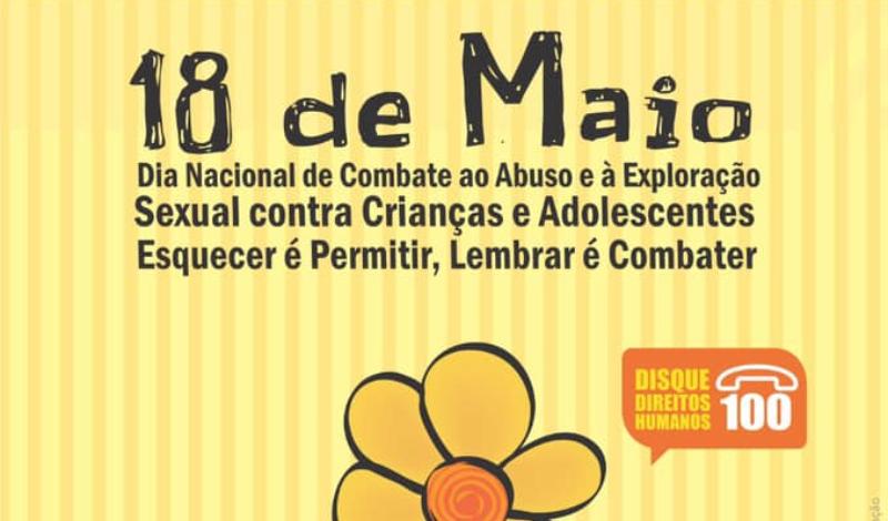 Imagem destaque notícia 18 DE MAIO - DIA NACIONAL DE COMBATE AO ABUSO E À EXPLORAÇÃO SEXUAL CONTRA CRIANÇAS E ADOLESCENTES