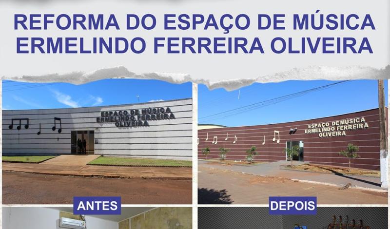 Imagem destaque notícia ANTES E DEPOIS DO ESPAÇO DE MÚSICA ERMELINDO FERREIRA OLIVEIRA