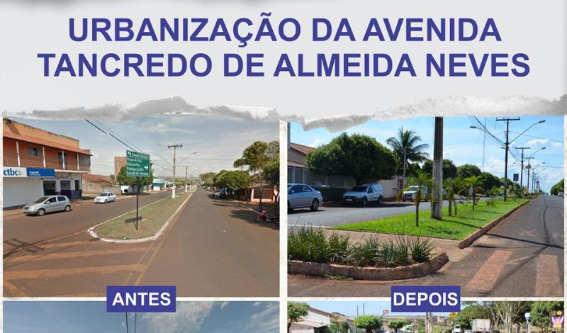 Imagem destaque notícia ANTES E DEPOIS DA URBANIZAÇÃO DA AVENIDA TANCREDO DE ALMEIDA NEVES