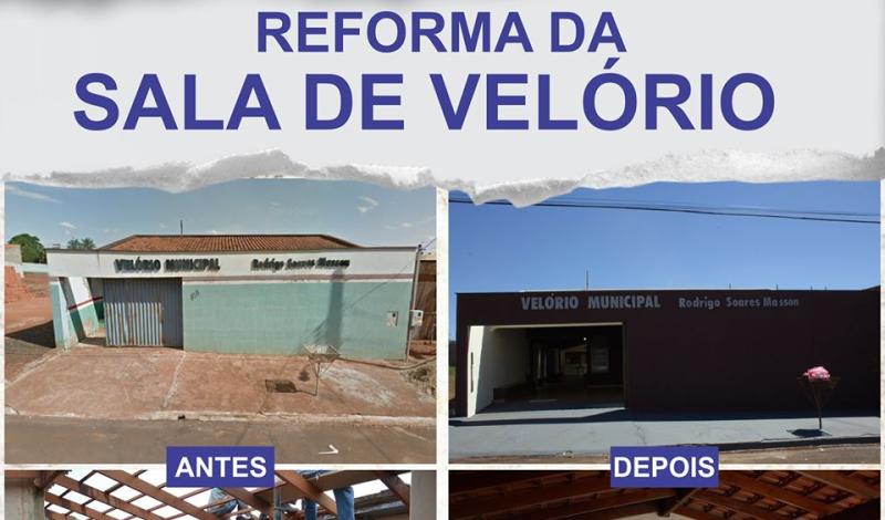 Imagem destaque notícia ANTES E DEPOIS DA REFORMA DA SALA DE VELÓRIO