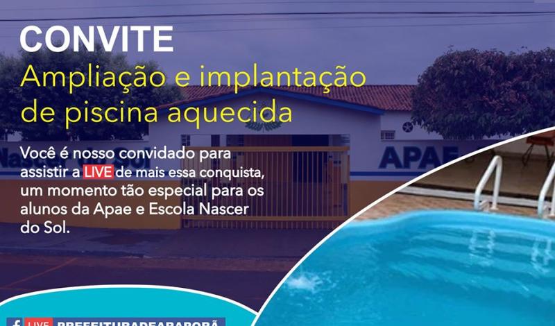 Imagem destaque notícia PISCINA DA APAE SERÁ ENTREGUE NESSA SEXTA-FEIRA