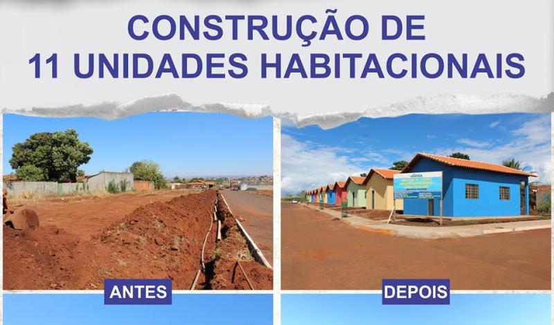 Imagem destaque notícia ANTES E DEPOIS DA CONSTRUÇÃO DE 11 UNIDADES HABITACIONAIS
