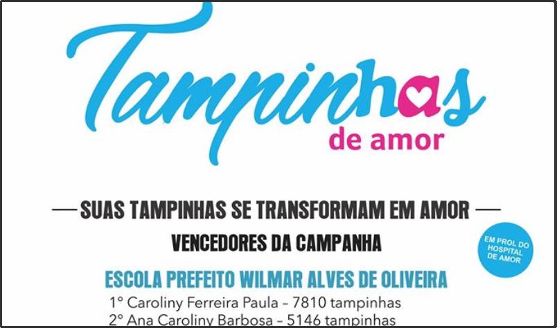 Imagem destaque notícia CONHEÇA O NOME DOS VENCEDORES DA CAMPANHA TAMPINHAS DE AMOR